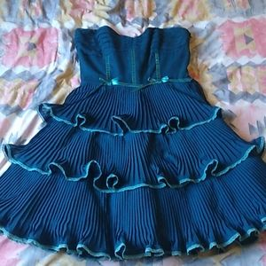 Betsey Johnson blue tiered dress